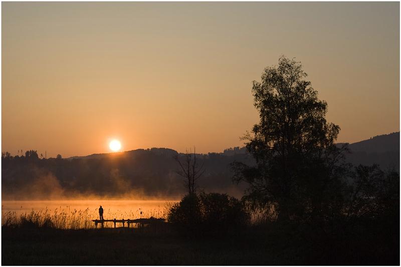 Sonnenaufgang am Pfäffikersee