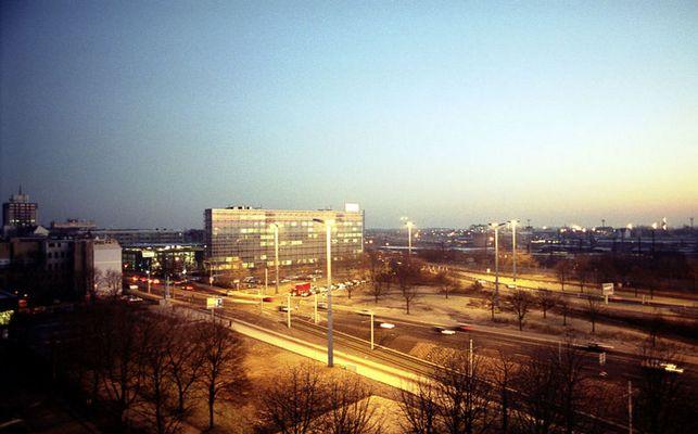 Sonnenaufgang am Riebeckplatz in Halle/Saale I