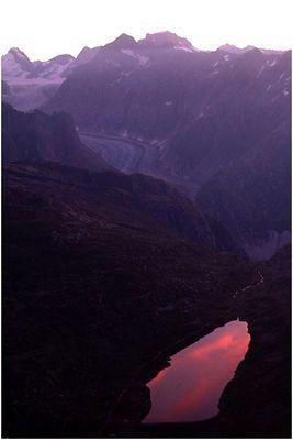 Sonnenaufgang am Rosasee...