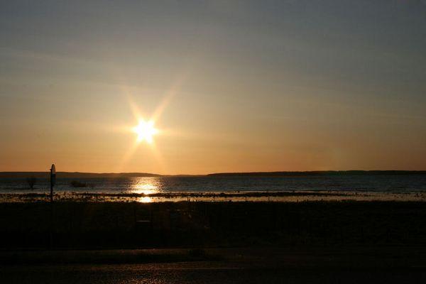 Sonnenaufgang am Roxen (Linköping/ Schweden)