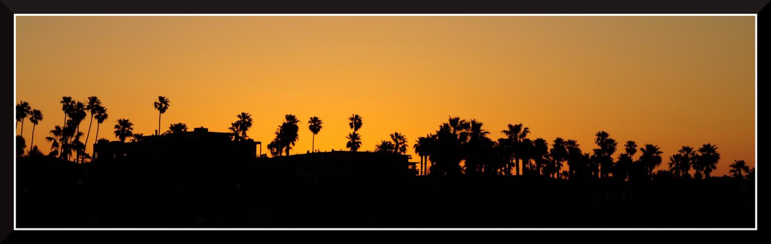 Sonnenaufgang am Santa Monica Beach