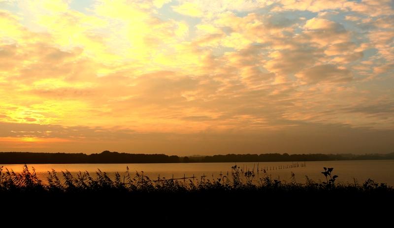 Sonnenaufgang am Schweriner See...