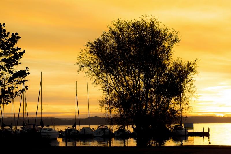 Sonnenaufgang am Schweriner See, 25.09.2013
