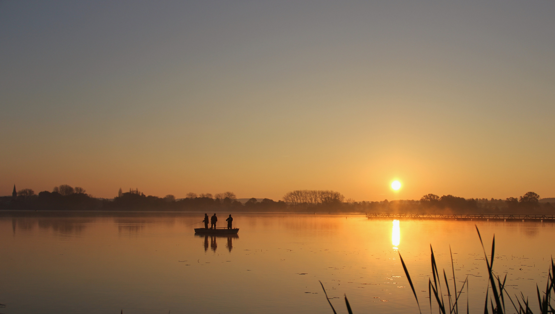 Sonnenaufgang am Seeburger See,II