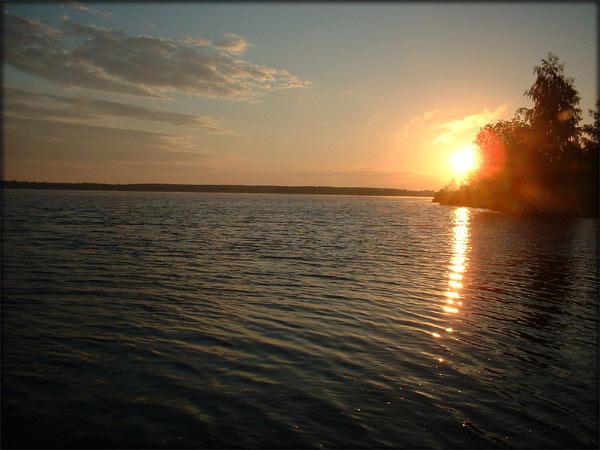 Sonnenaufgang am Senftenberger See