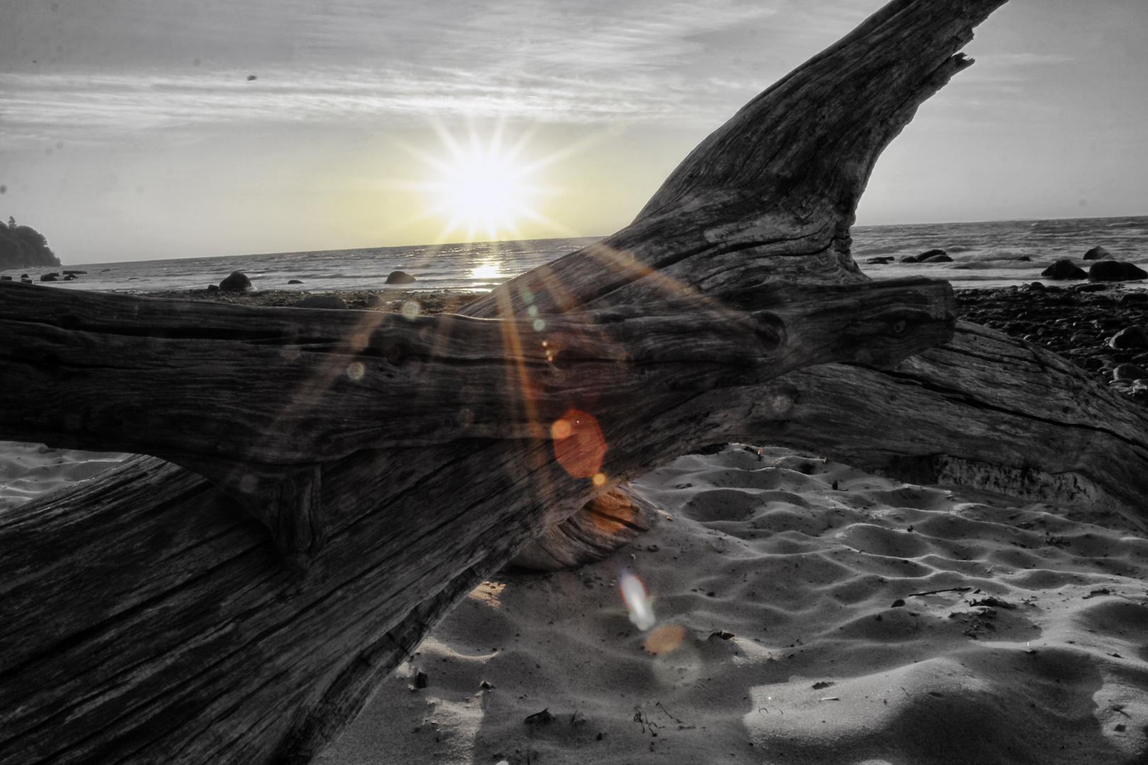 Sonnenaufgang am Strand von Göhren