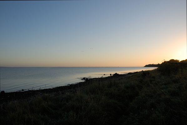 Sonnenaufgang am Strand von Habernis