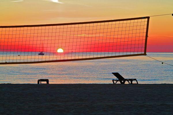 Sonnenaufgang am Strand von Pampelonne 3