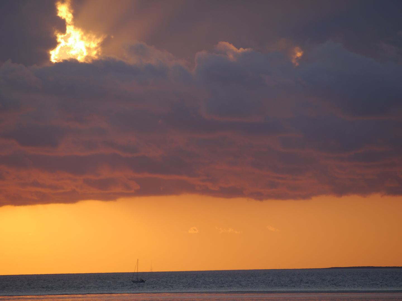 Sonnenaufgang am Strand von Schillig