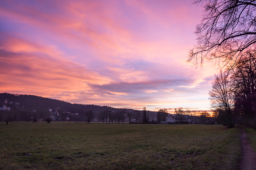 Sonnenaufgang am Tolkewitzer Hof