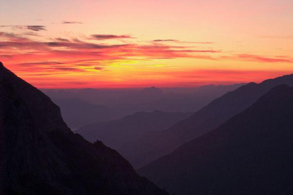 Sonnenaufgang am Torrener Joch