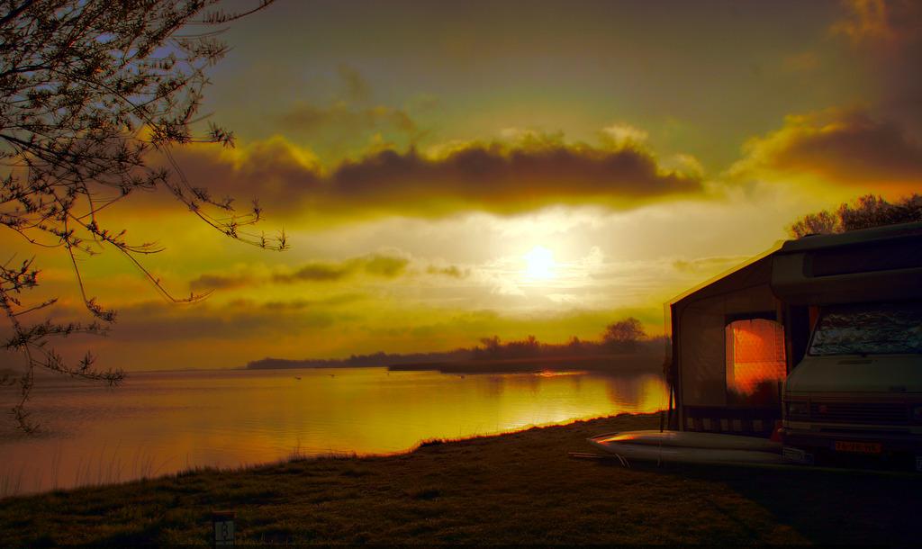 Sonnenaufgang am Veluwemeer