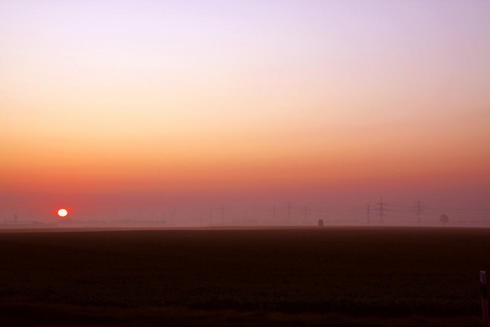 Sonnenaufgang am Wahlsonntag 27.09.09