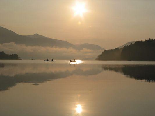 Sonnenaufgang am Walchensee