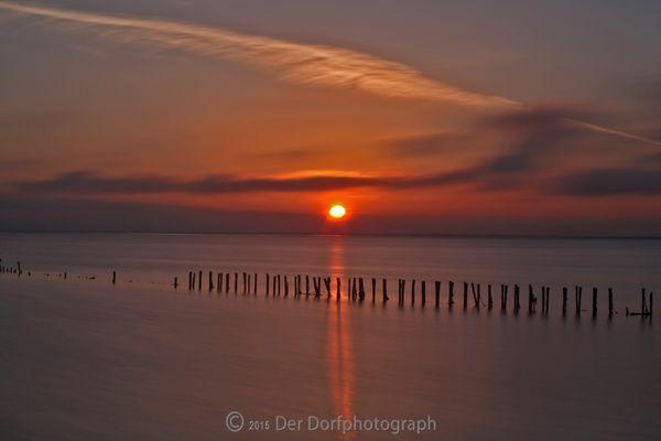 Sonnenaufgang am Wattenmeer