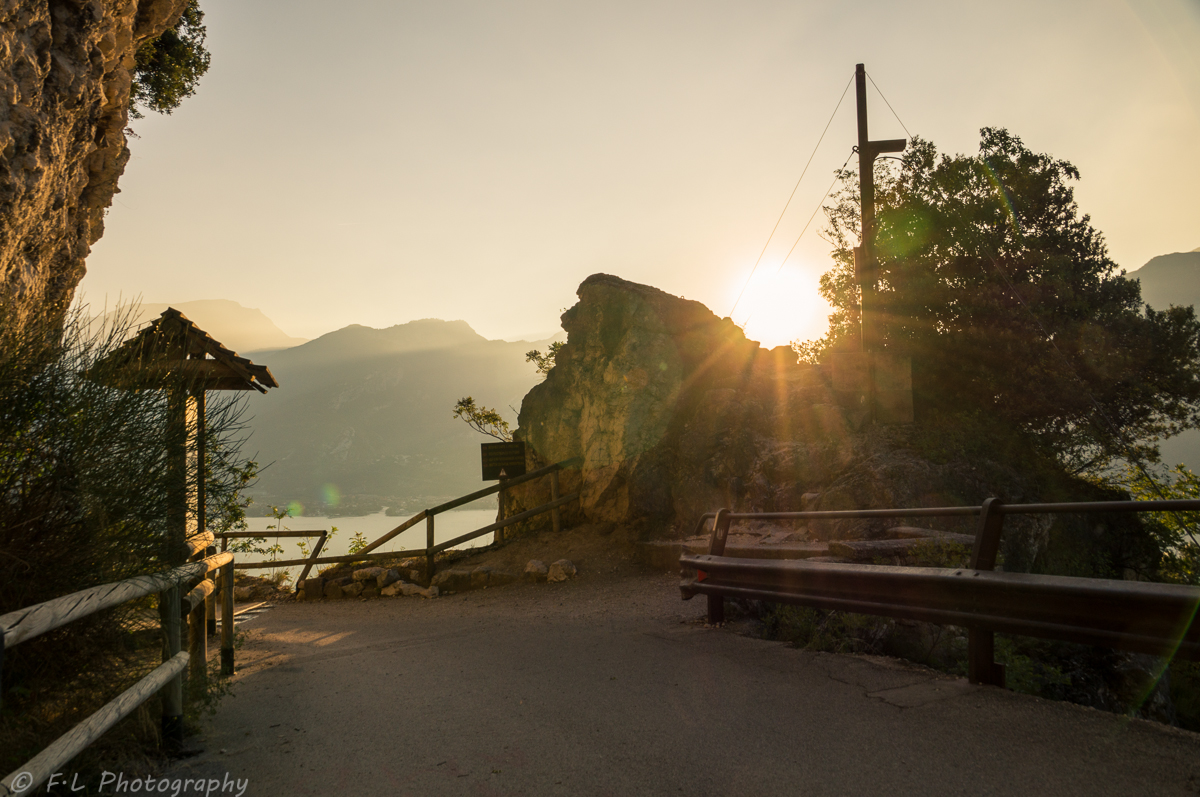 Sonnenaufgang am Weg nach Pregasina