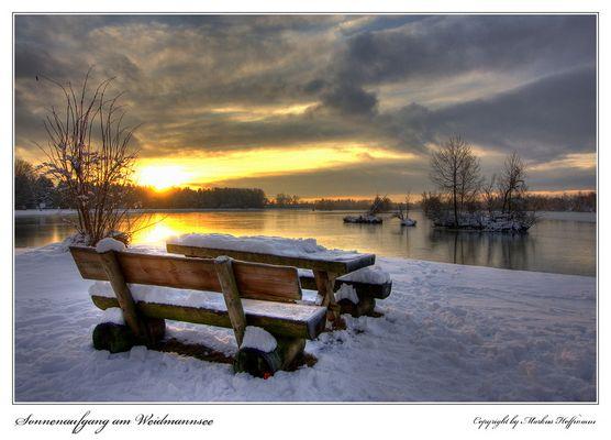 Sonnenaufgang am Weidmannsee