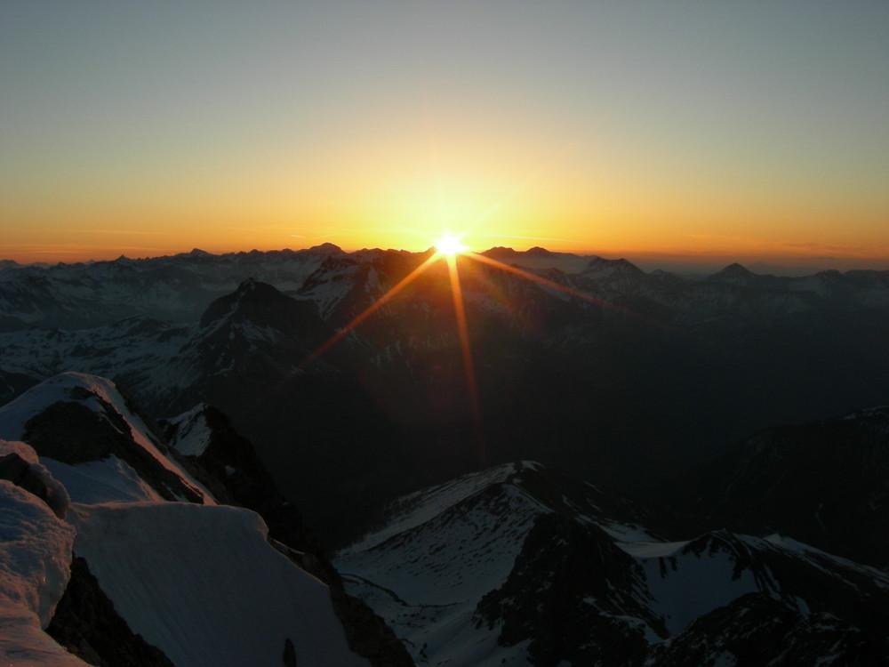 Sonnenaufgang am Weißeck