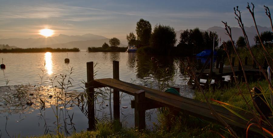 Sonnenaufgang am Zürichsee