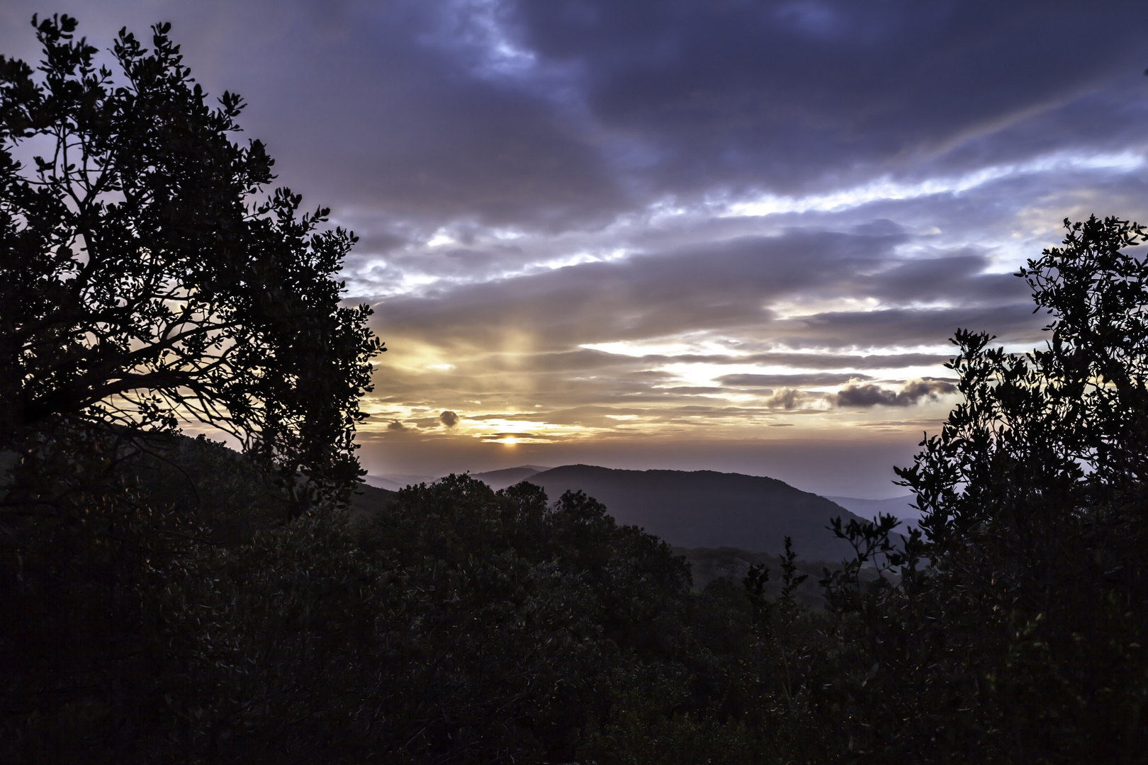 Sonnenaufgang an der Cote d'Azur