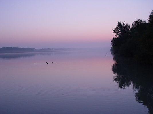Sonnenaufgang an der Donau / Tulln