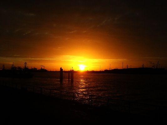 Sonnenaufgang an der Elbe!