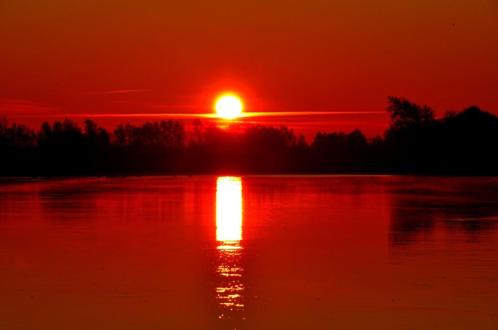 Sonnenaufgang an der Elbe bei Bleckede