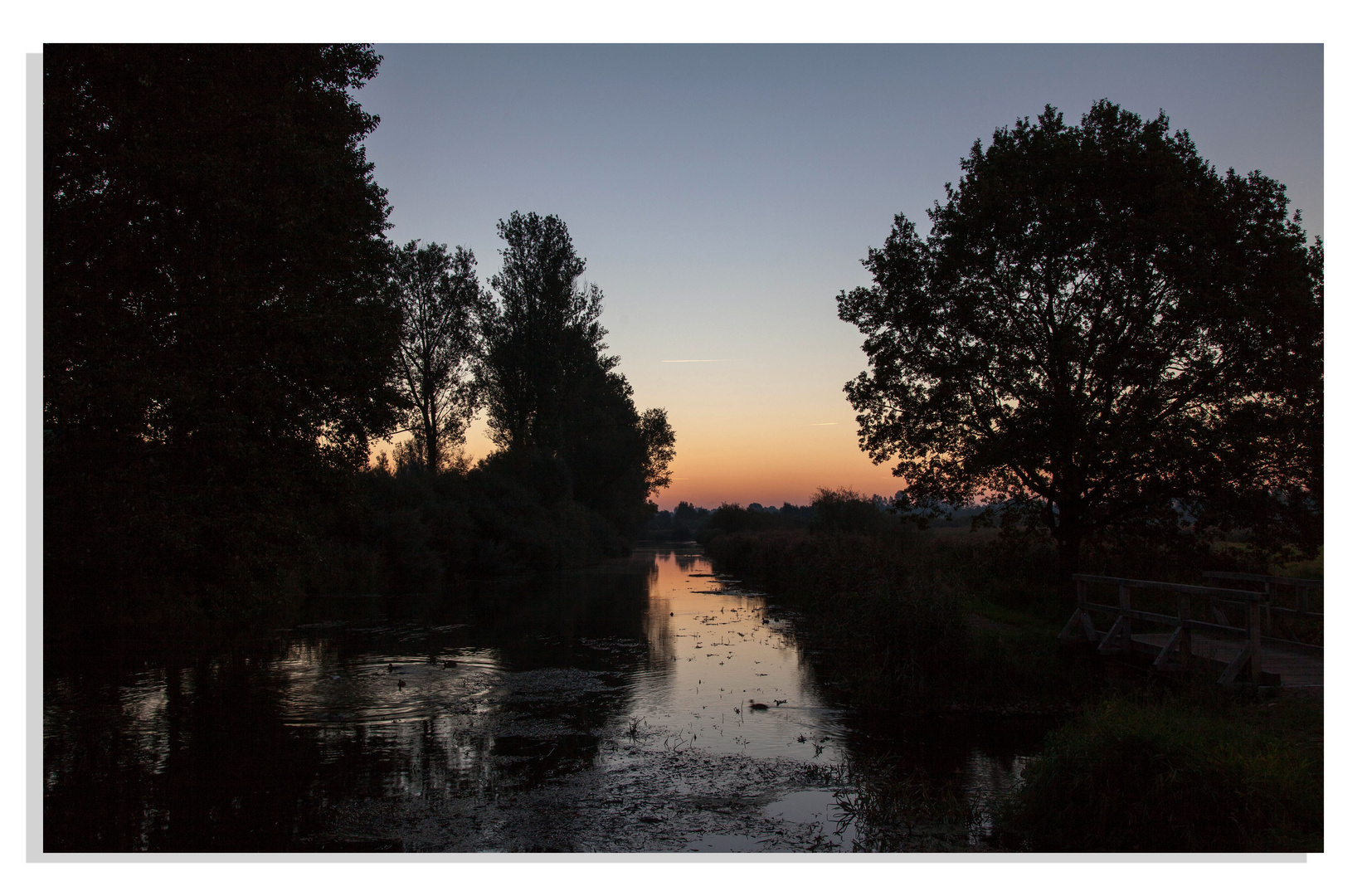 Sonnenaufgang an der Trave