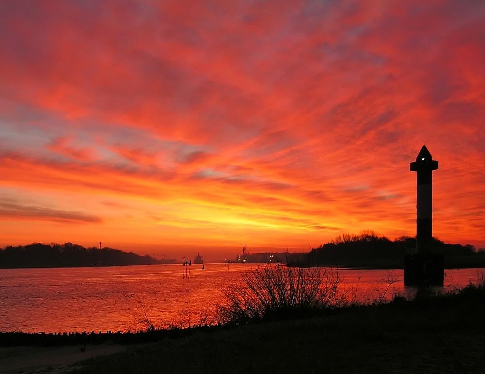 Sonnenaufgang an der Unterweser 4