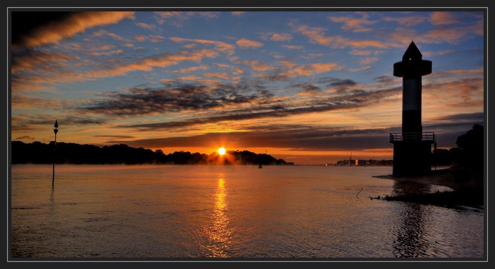 Sonnenaufgang an der Unterweser