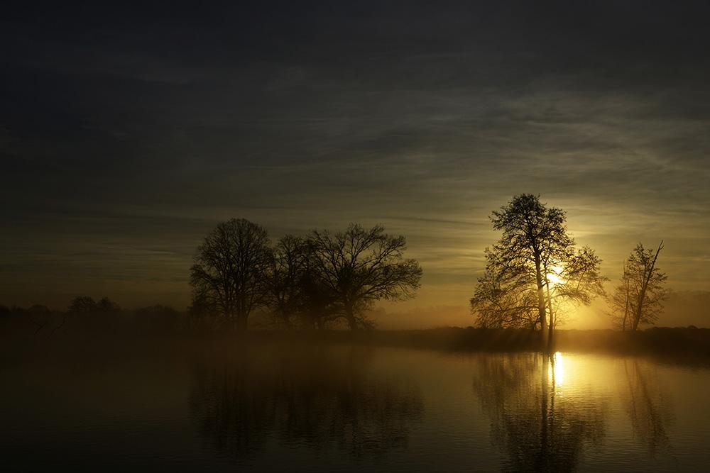 Sonnenaufgang an Heilig Abend