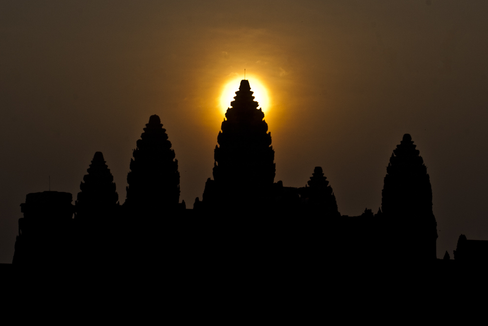 Sonnenaufgang, Angkor Wat