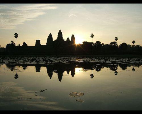 Sonnenaufgang Angkor Wat am 4.11.2005