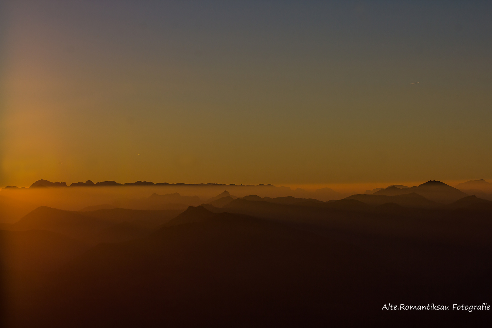 Sonnenaufgang auf 2000 Meter..