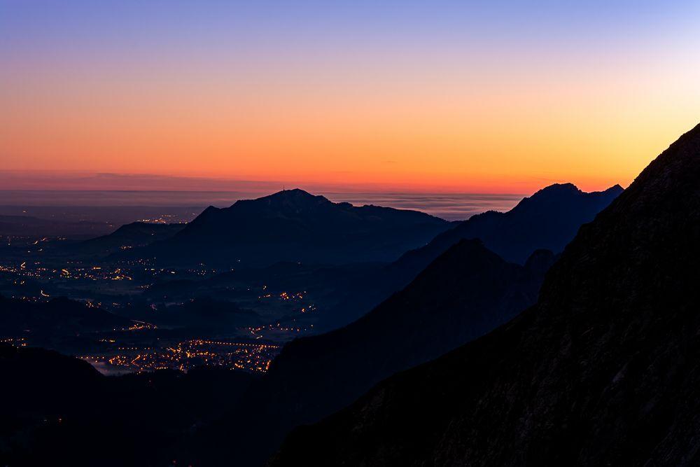 Sonnenaufgang auf 2100 Metern