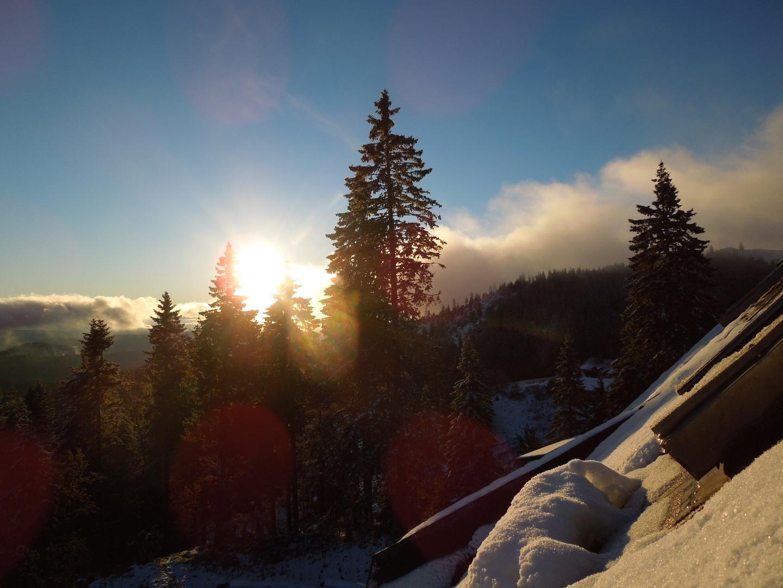 Sonnenaufgang auf dem Feldberg