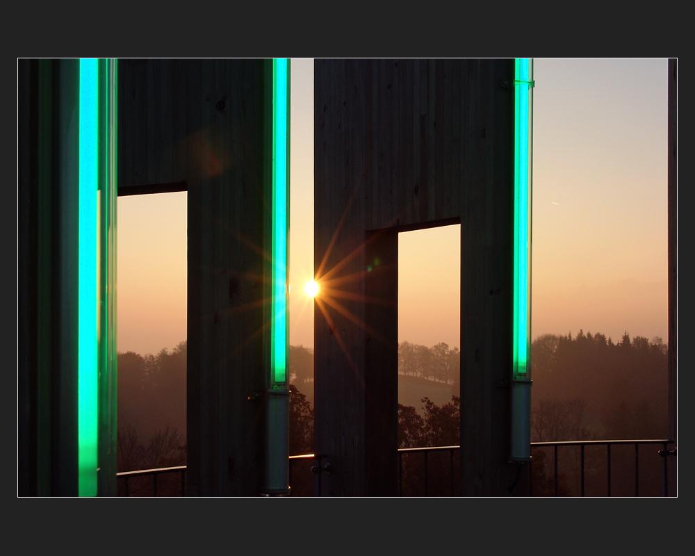Sonnenaufgang auf dem Gurtenturm