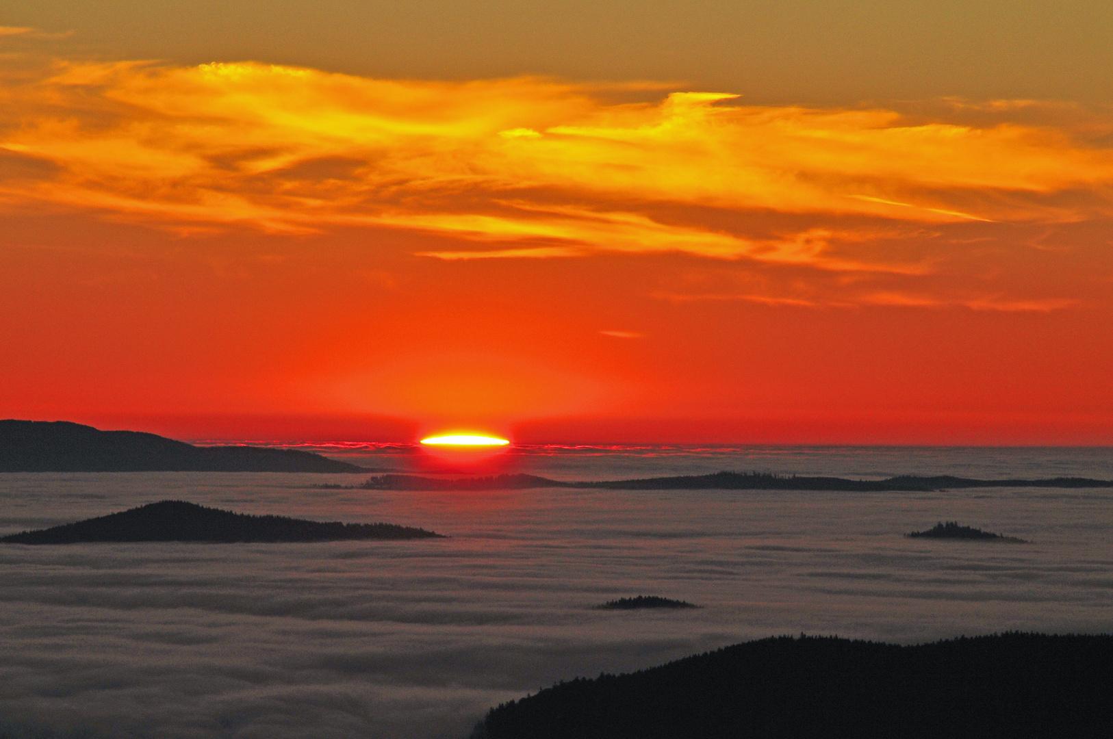 Sonnenaufgang auf dem Lusen - Bayerischer Wald