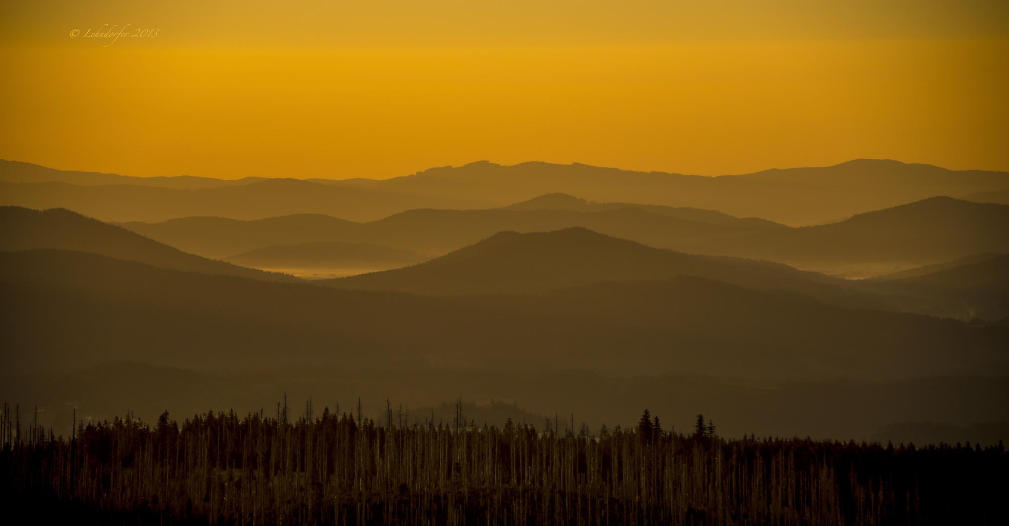 Sonnenaufgang auf dem Lusen ...