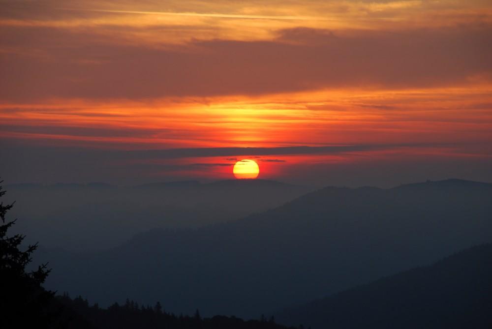 Sonnenaufgang auf dem Schauinsland