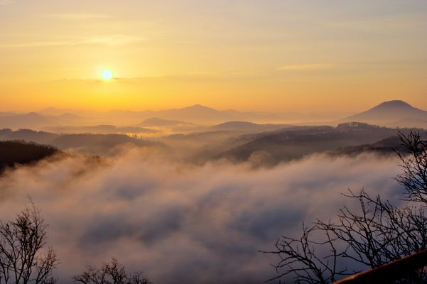 Sonnenaufgang auf dem Zirkelstein