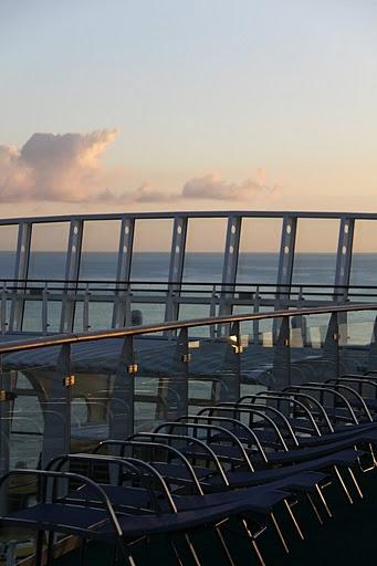 Sonnenaufgang auf der AIDA