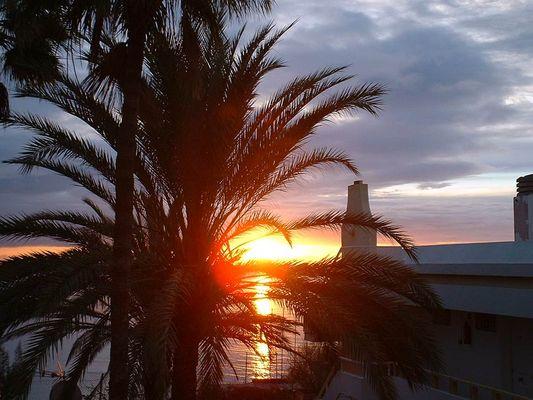 Sonnenaufgang auf der Insel Gran Canaria