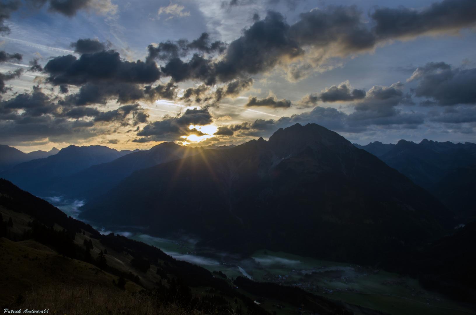 Sonnenaufgang auf der Jöchelspitze