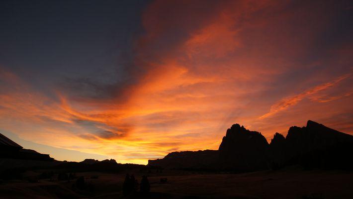Sonnenaufgang auf der Seiser Alm