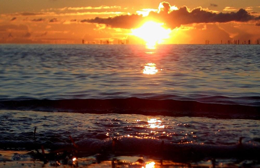 Sonnenaufgang auf der Sonneninsel