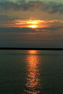 Sonnenaufgang auf fehmarn