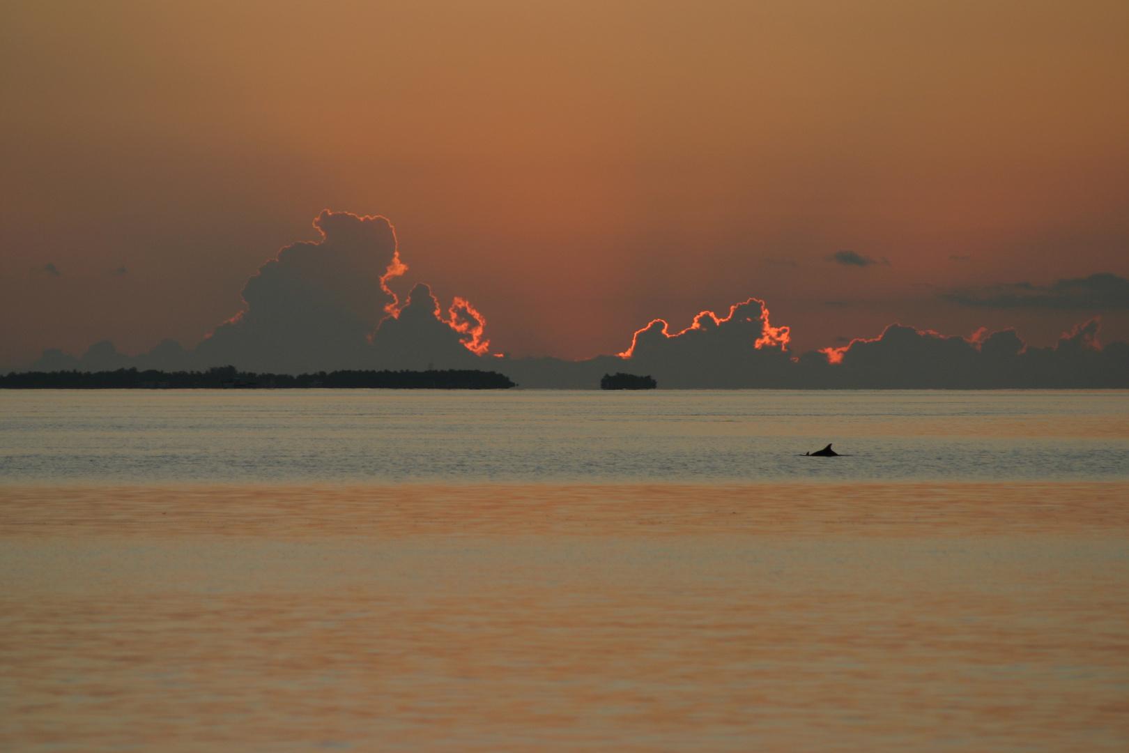 Sonnenaufgang auf Fihalohi