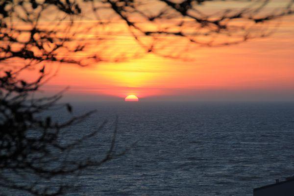 Sonnenaufgang auf Helgoland