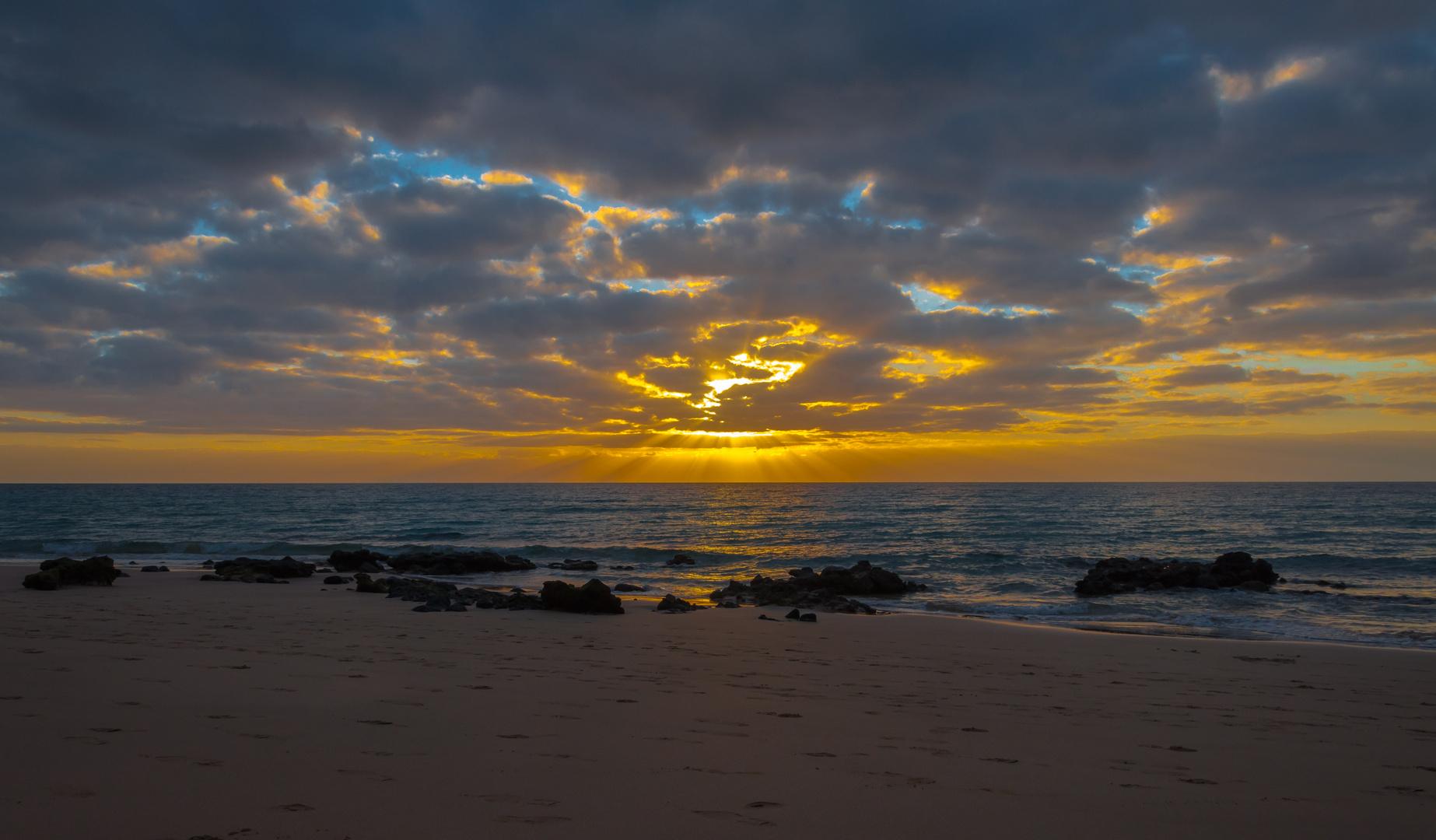 Sonnenaufgang auf Jandia (Fuerteventura)